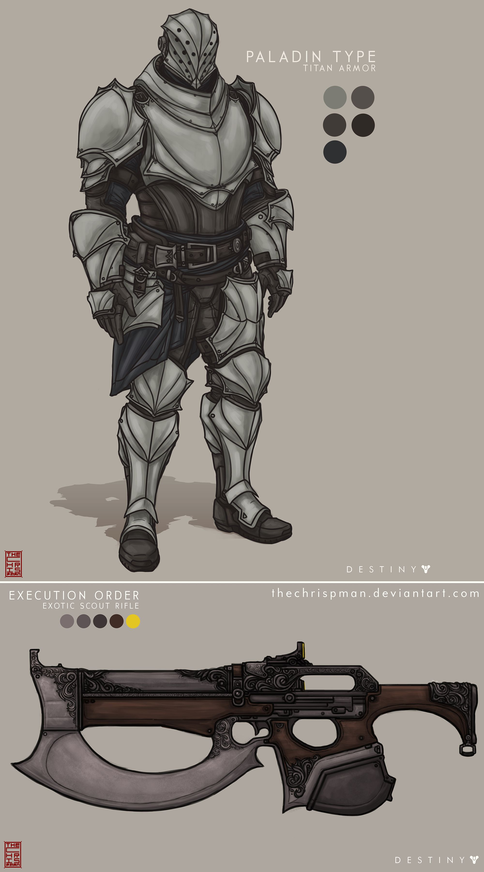 Character Design Course Free : Fan made concept art paladin type titan armor execution