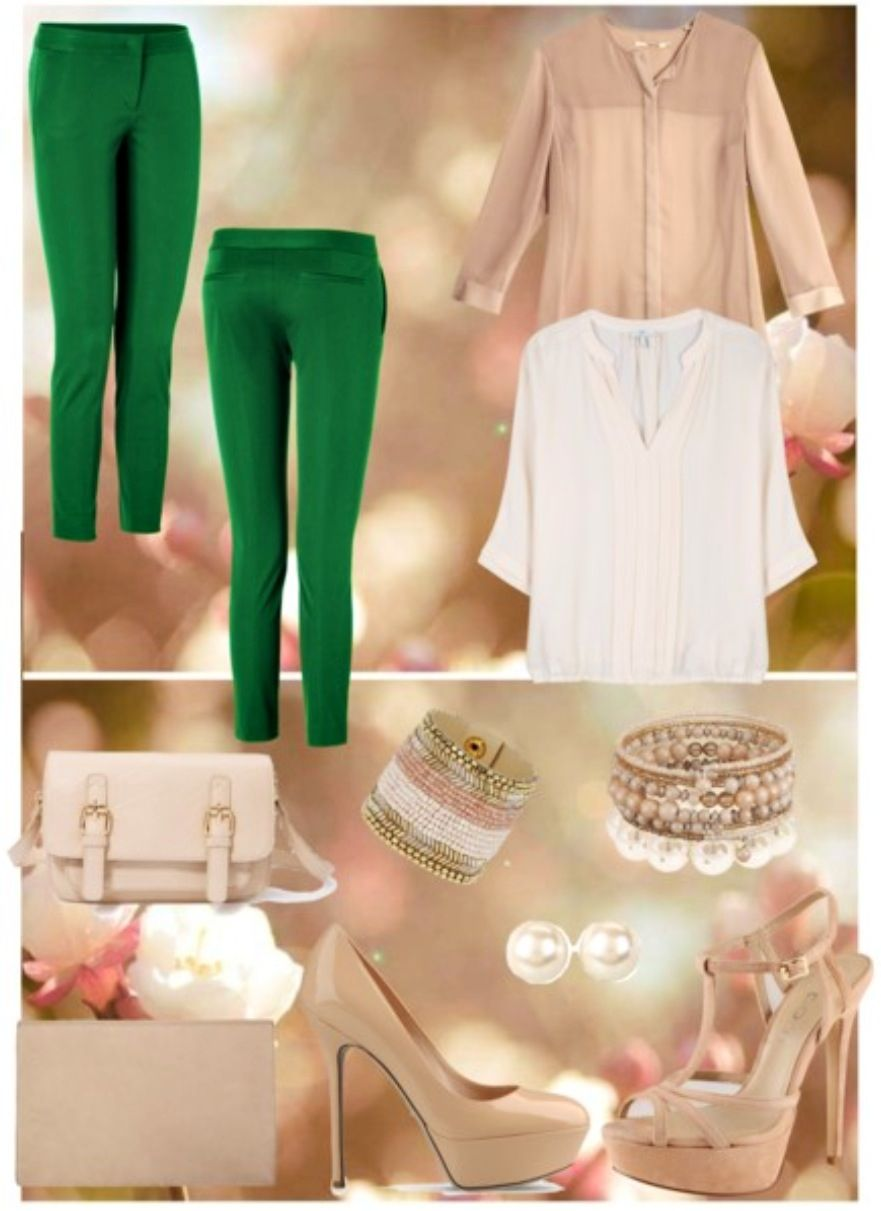 SpringOutfit..#green#beige#oldPink#likeIt✌