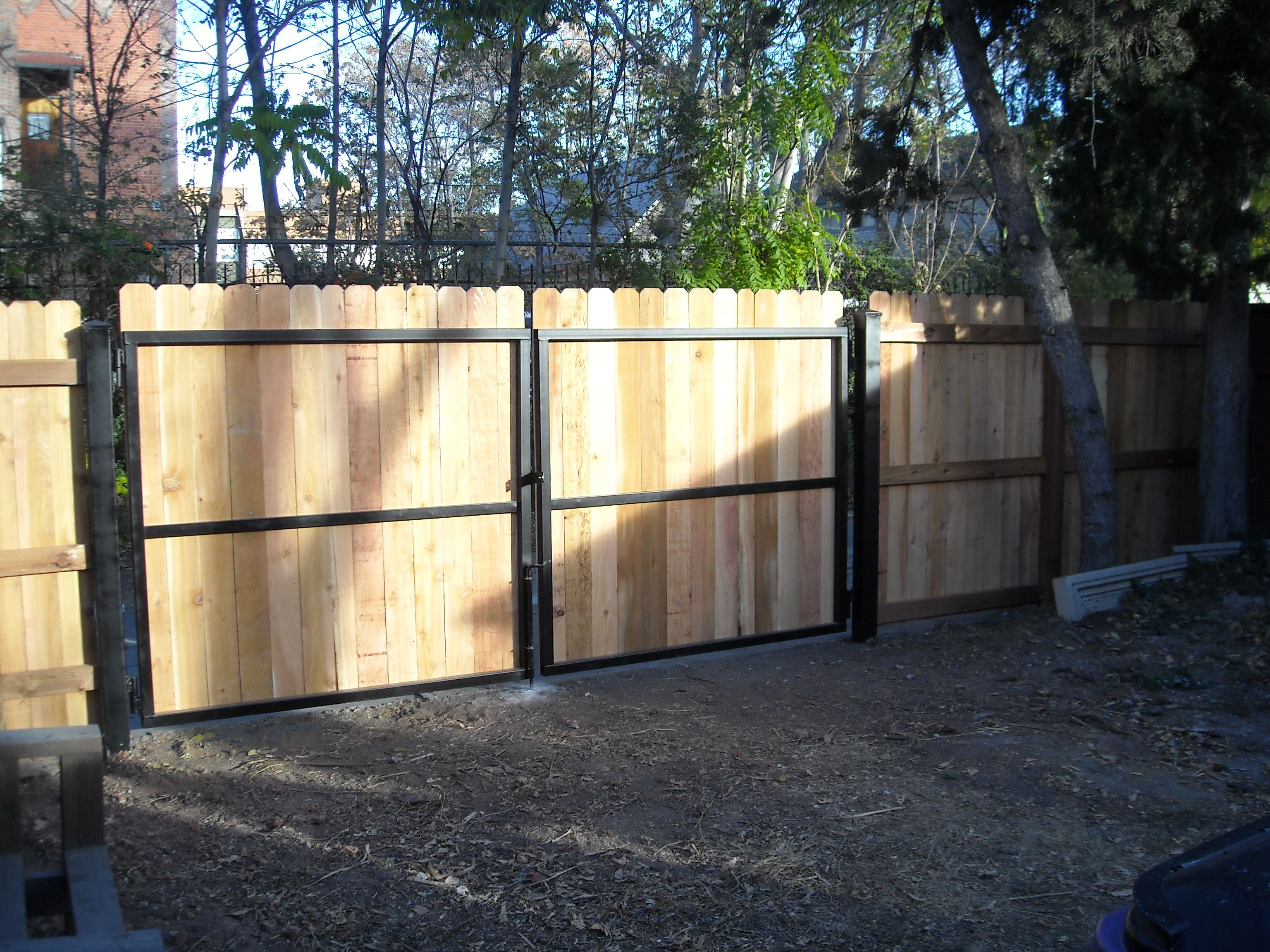 Fences And Gates Fence Amp Steel Cedar Security Gate