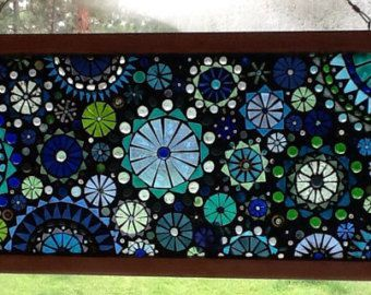 Glass Mosaic Window Panel Abstract