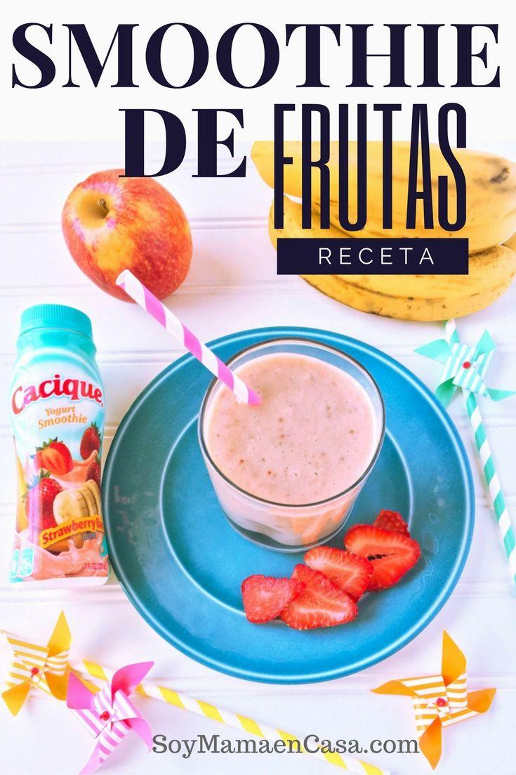 Rica Receta De Smoothie De Frutas Smoothie Recetas Licuados De