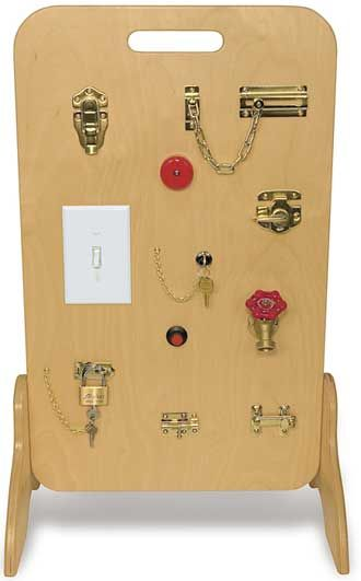 TAG Toys Wooden Locks & Latches Activity Board - RH-10 | MonsterMarketplace.com