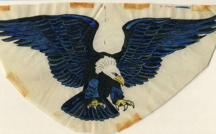 Eagle tattoo art on vellum (12\
