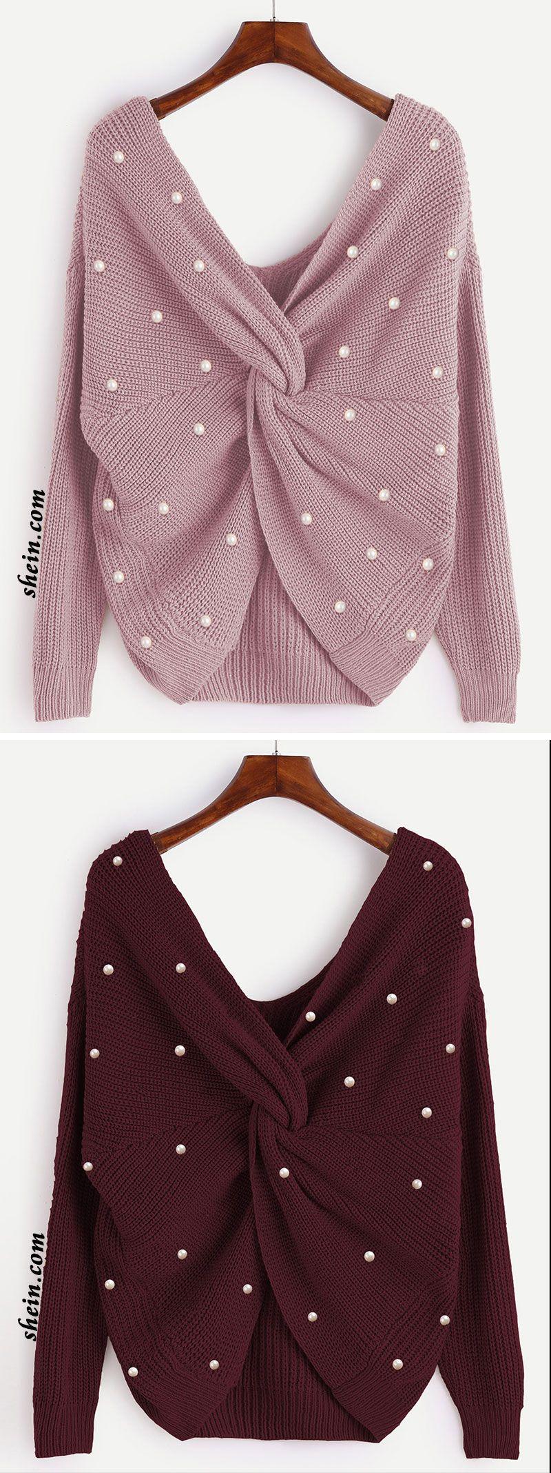 c13f38a364 Sweater torcido con perlas | Estilos | Fashion, Clothing patterns y ...