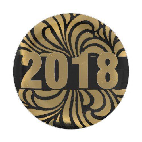 2018 with golden black -grunge swirls paper plate  sc 1 st  Pinterest & 2018 with golden black -grunge swirls paper plate | Black grunge