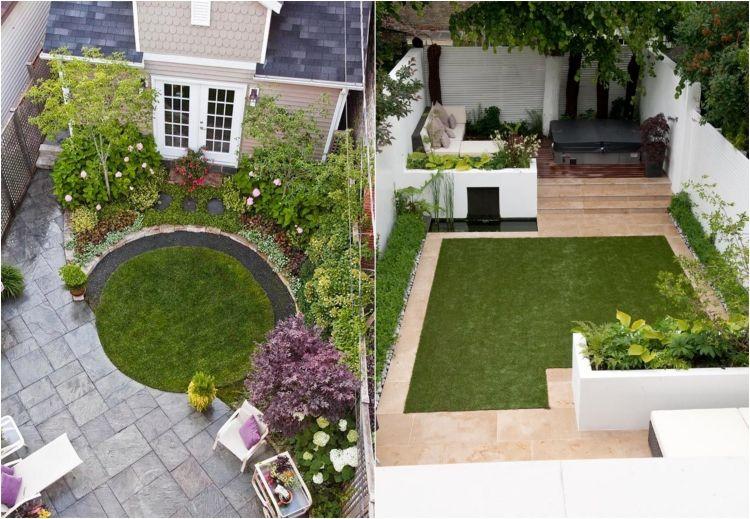 Gartengestaltung für kleine Gärten rasenflache-einplanen Idee