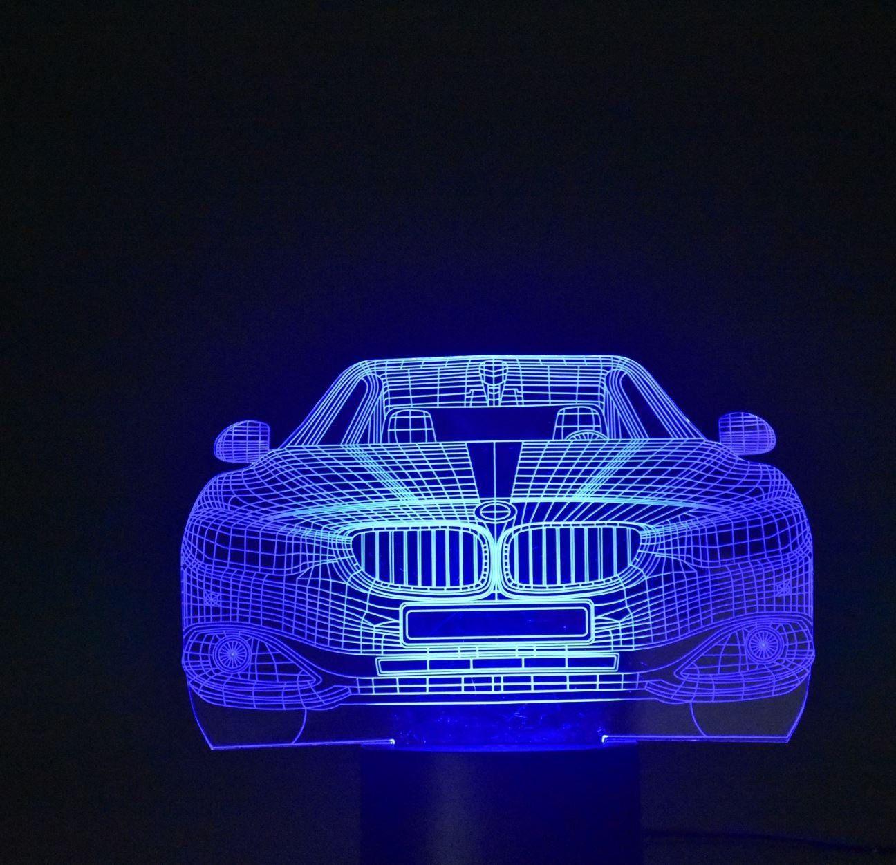 Werbung Coole Led Lampe Mit Farbwechsel Fur Das Kinderzimmer Eines Auto Fans Einzigartige 3d Beleuchtung Sie Werden Scho Led Nachtlicht Kinder Geburtstag