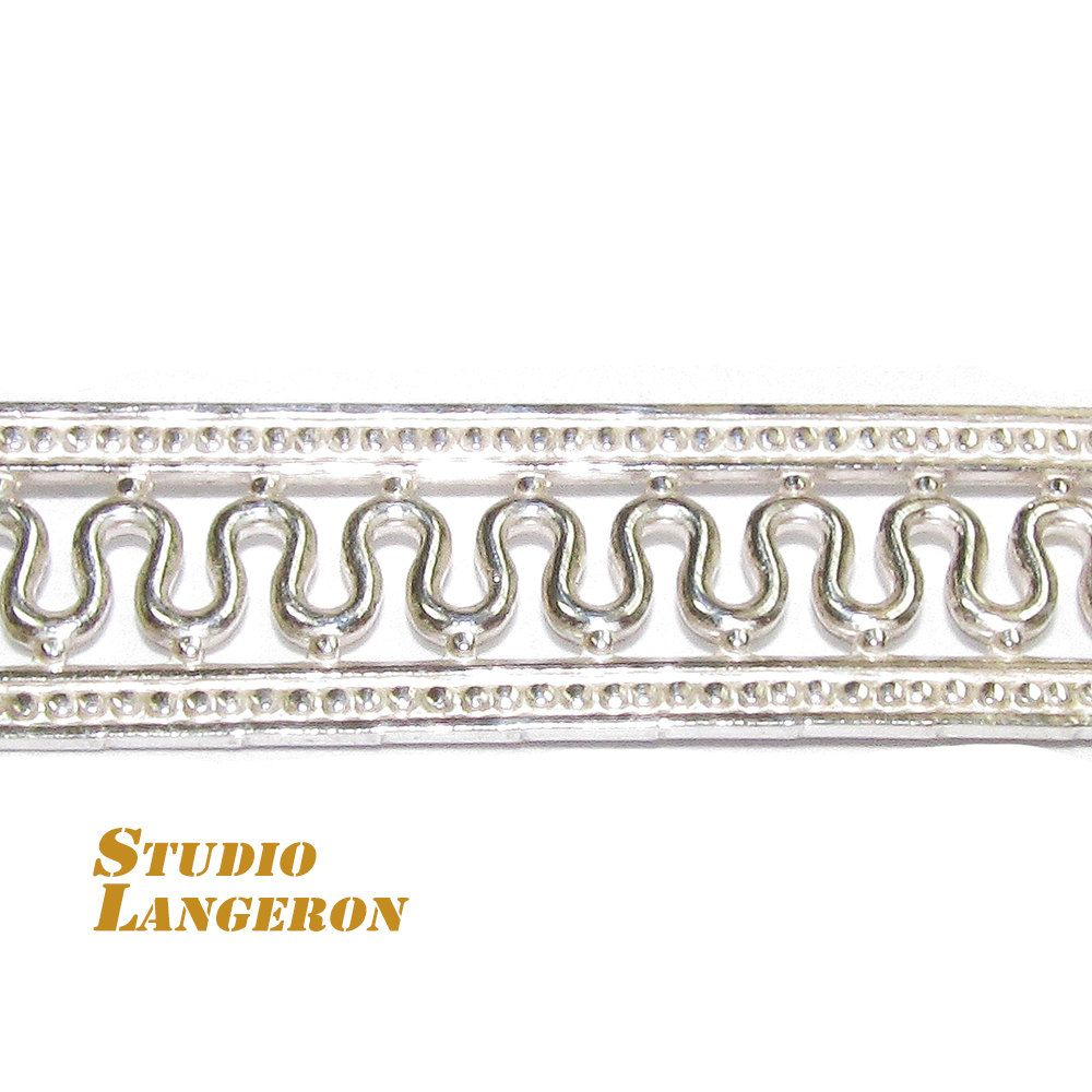 935 Sterling Silver Bezel wire, Gallery wire, Gallery ribbon - 4 inch by StudioLangeron on Etsy