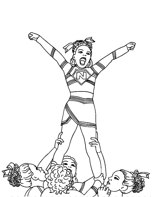 Cheerleader Won Cheerleading Competition Coloring Pages Best Place To Color In 2020 Coloring Pages Coloring Pictures Coloring Pages For Girls