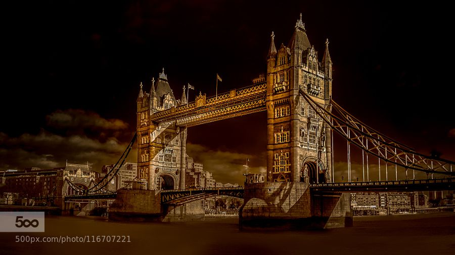 London's Tower Bridge - Pinned by Mak Khalaf London's Tower Bridge City and Architecture BridgeBritainCityscapeDarkIconicLandscapeLightLondonRiverRiver ThamesSepiaSmooth waterTexturedTonedTower BridgeUKUnited KingdomWaterskytowercity by JohnWright5