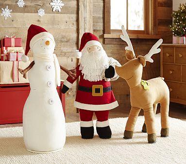 Large Plush Hearth Decor Pbkids Christmas Decorations