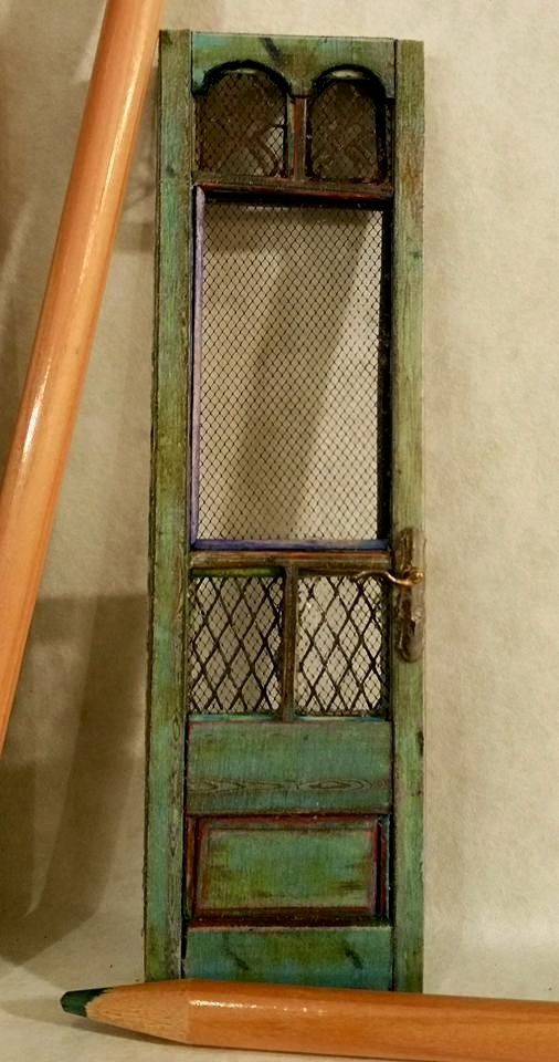 Old French Screen Door By Jennyltdesigns On Etsy My Miniatures