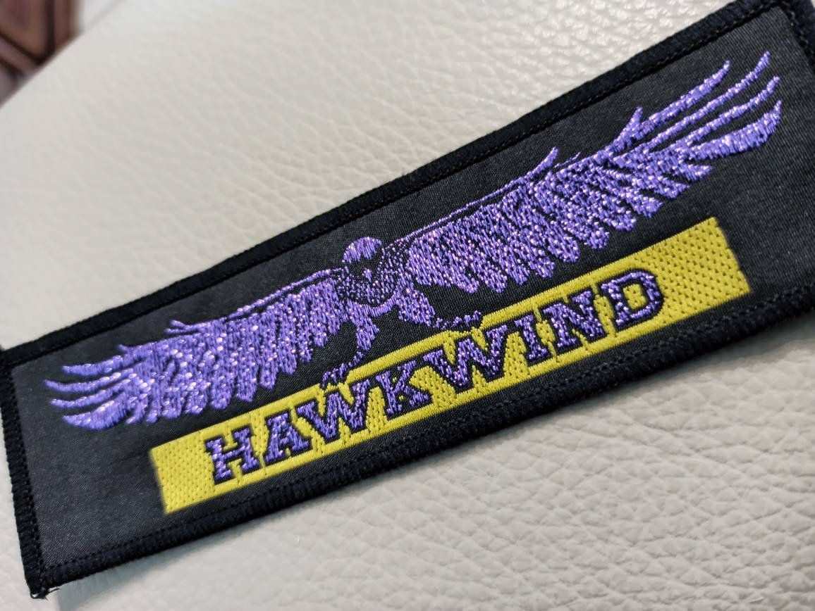 Hawkwind Patch Vintage End 70s Early 80s Delux For Real Collectors Authentic Vintage Strip Patch Rare Item For Your Denim Jacket Nel 2020 Vintage Heavy Metal Etsy