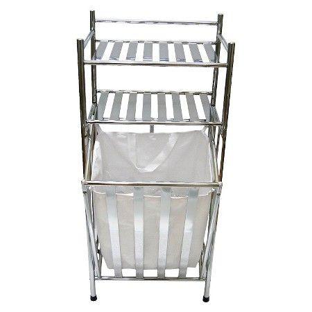 Hamper Chrome/Linen Threshold Target Laundry basket