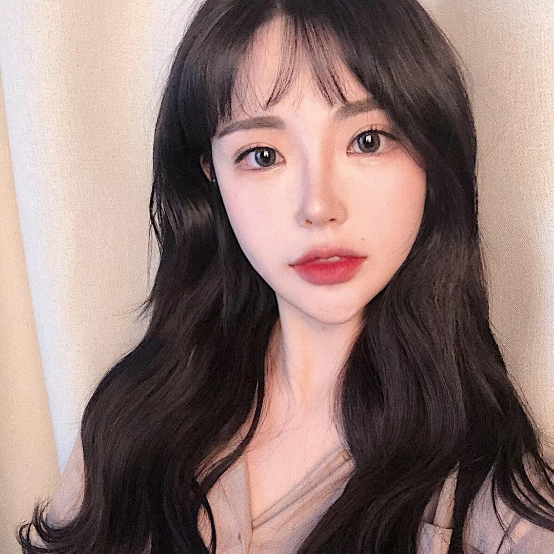 ulzzang #ulzzanggirl #koreangirl ~pinterest:kimgabson   Cute face masks  diy, Ulzzang girl, Fringe long hair
