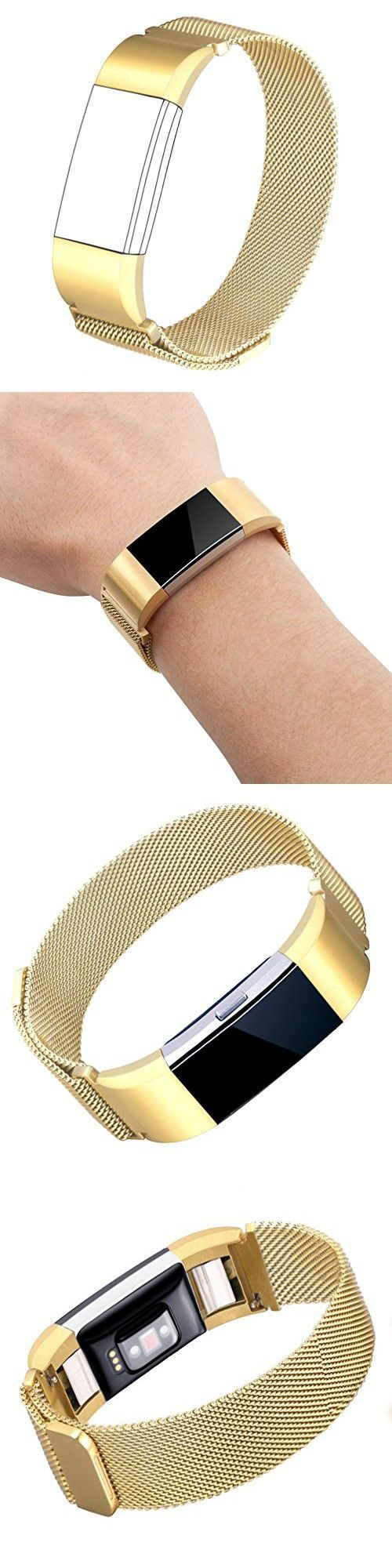 For fitbit charge bands wearlizer milanese loop replacement strap