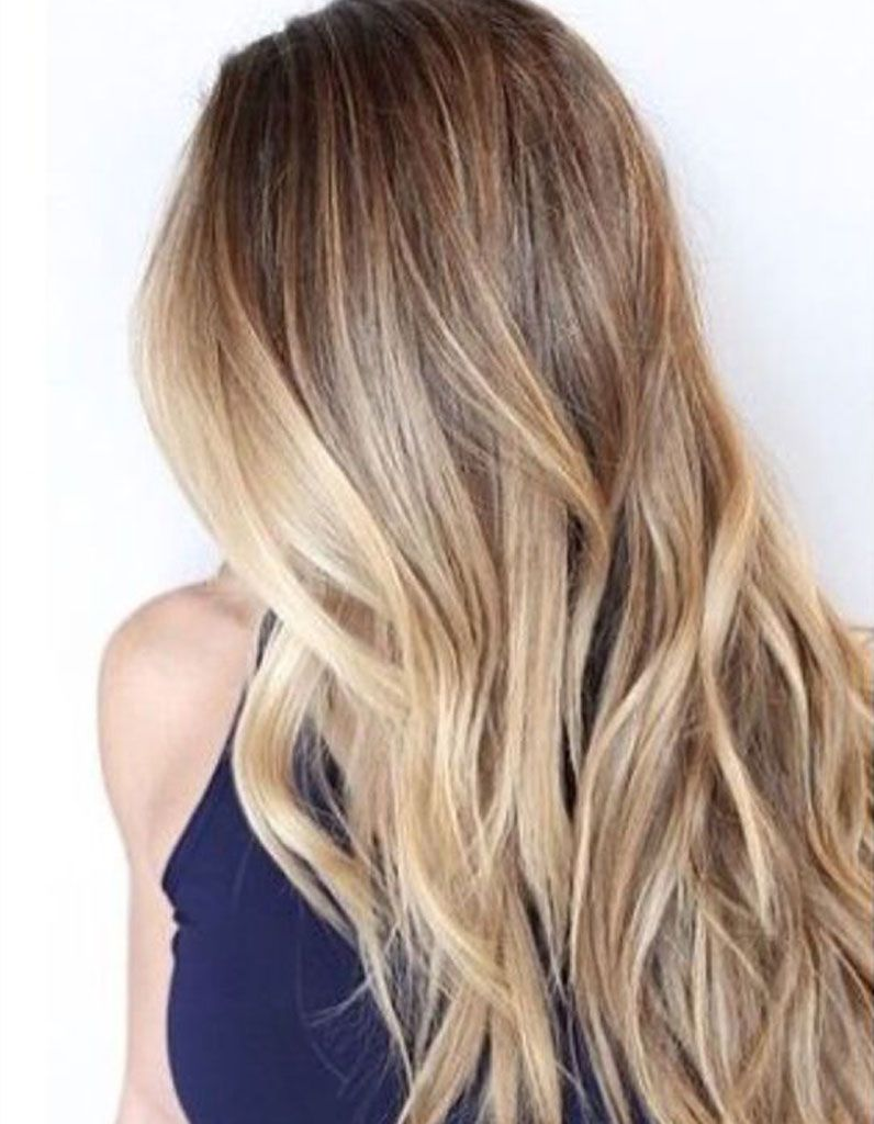 Cheveux longs balayage Coiffure balayage, Couleur