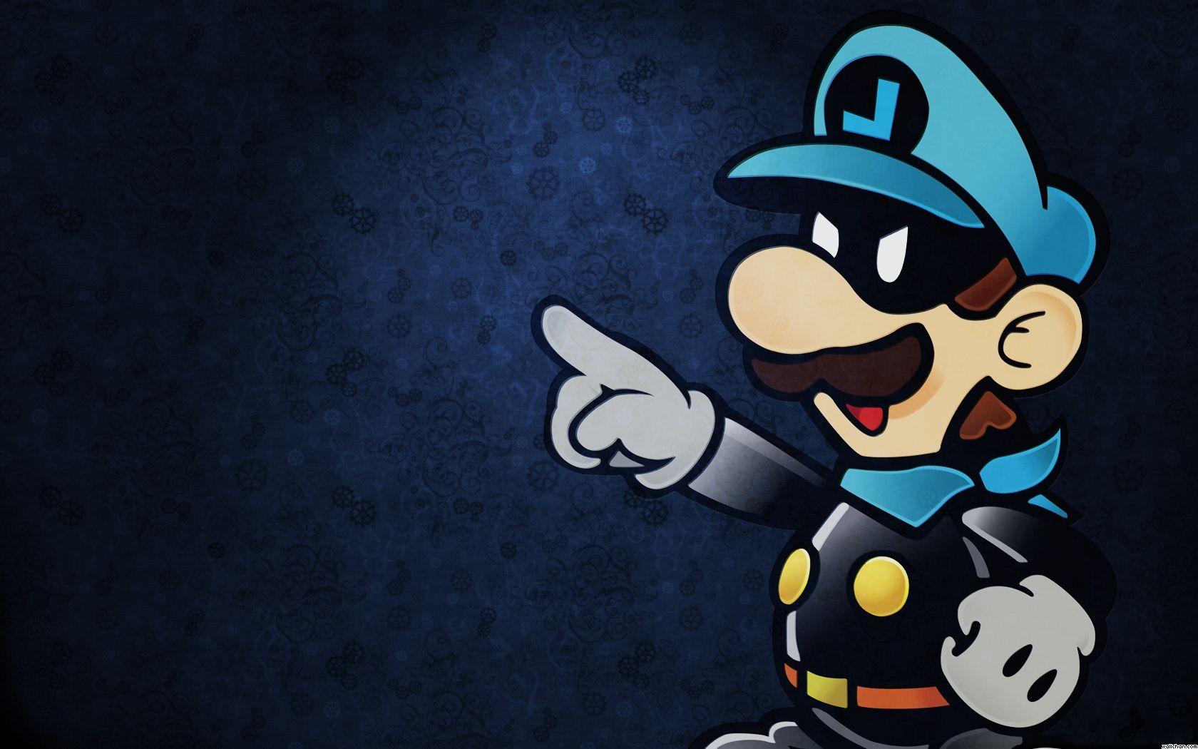 Blue Luigi Wallpaper | Games Wallpapers | Paper mario 64