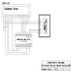 Arduino Based Wireless Notice Board Circuit Diagram ...