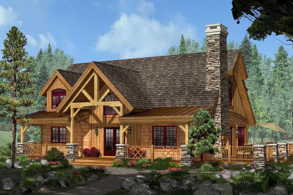 Adirondackcottage Our Adirondack Style Homes Feature A Rustic Timber Frame Post And Beam S Timber Frame Home Plans Small Timber Frame Cabin Timber Frame Homes