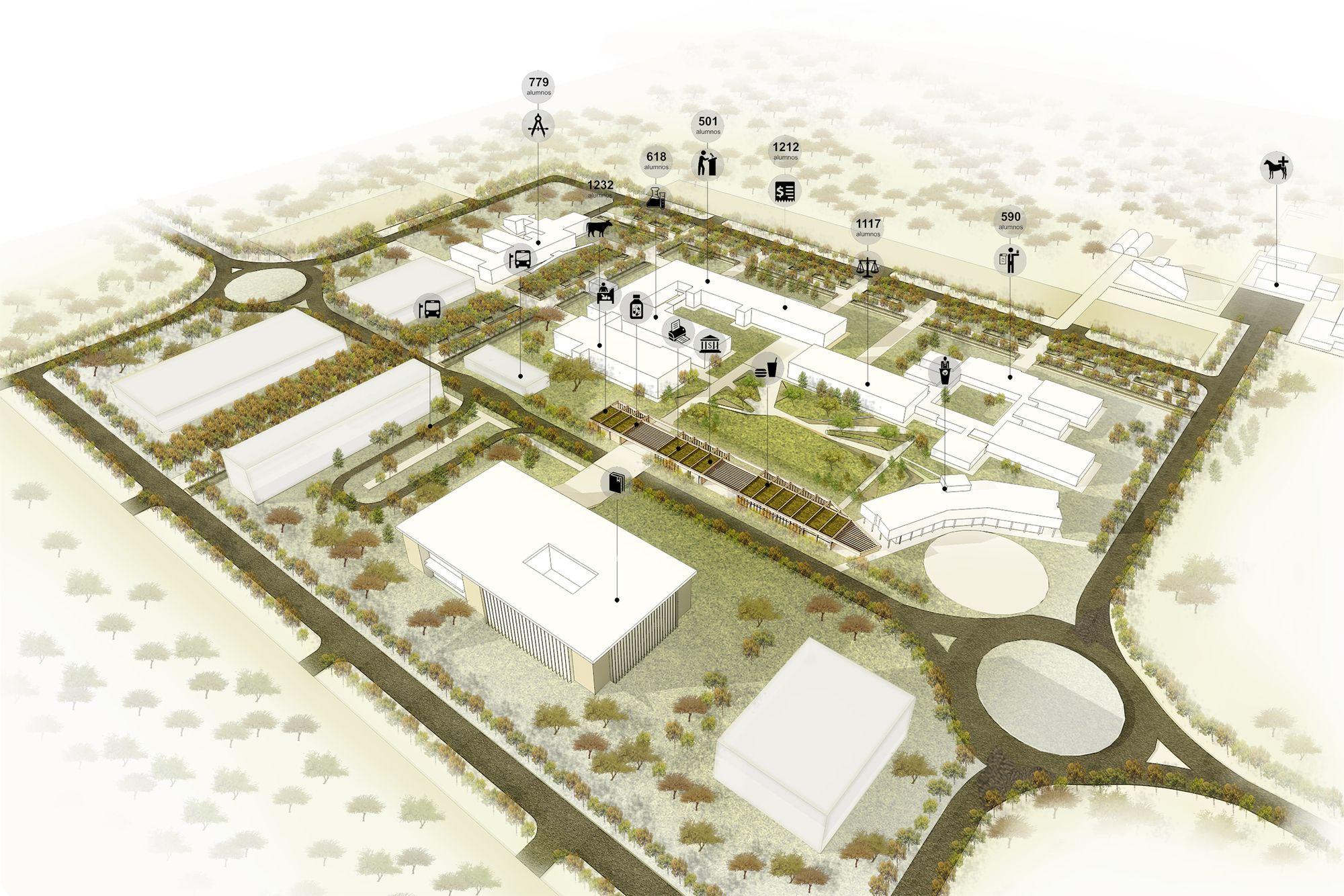 """Galería - Primer Lugar Concurso para el """"Master Plan Campus Universidad Católica de Córdoba"""" - 2"""