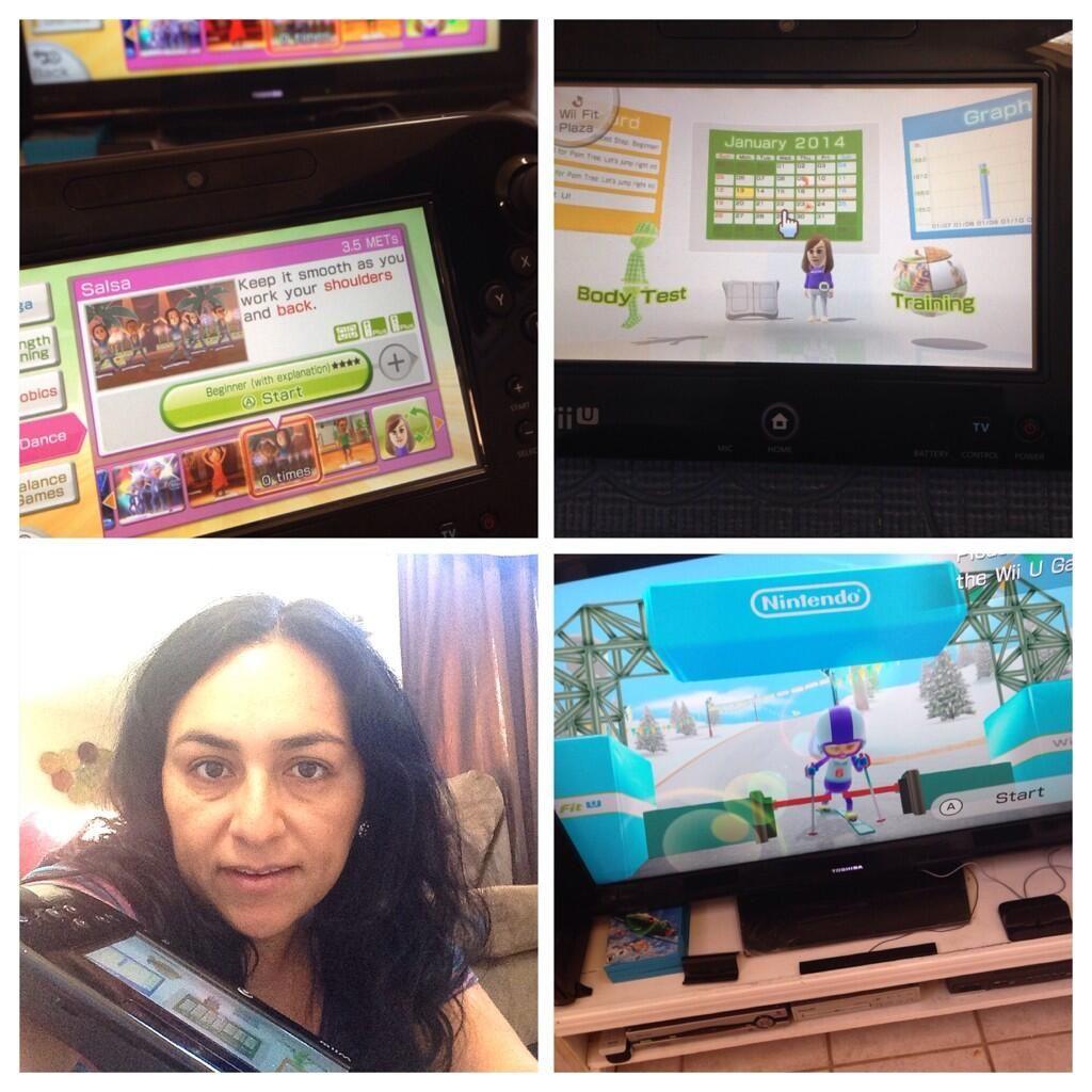 Seguimos a todo lo que da con el reto @NintendoAmerica #WiiFitU #WiiU en el  GYM de nuestra casa