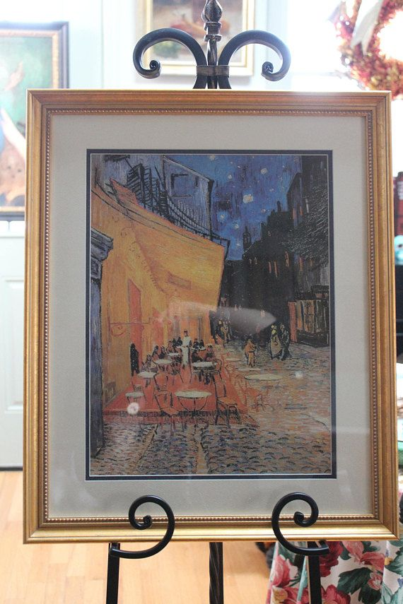 Listed above is a matted and framed art print of Vincent Van Goghs ...
