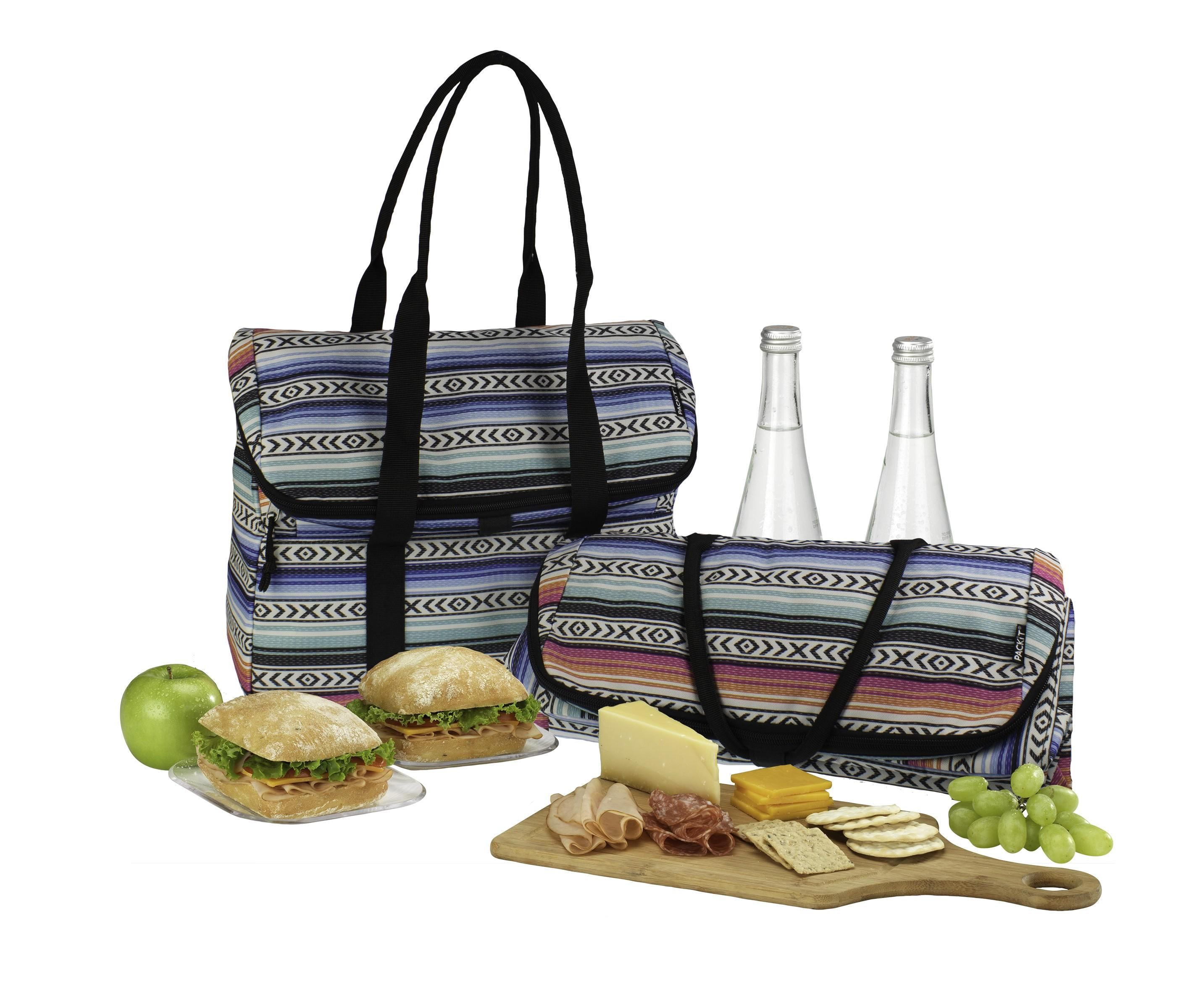 Picnic Totes Don T Get Any More Fashionable Or Functional Than This Stylish Shoulder Bag Its Top Flap Opens To Reveal A Ious Zippered Cooling