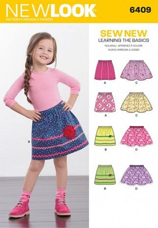 New Look Girls Easy Learn to Sew Sewing Pattern 6409 Skirts in 4 ...