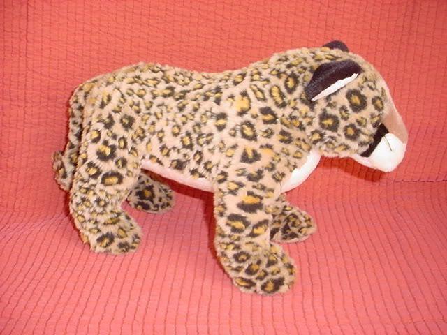 Ty Leopard Wild Cat Plush Stuffed Toy Retired 1999 Free Standing