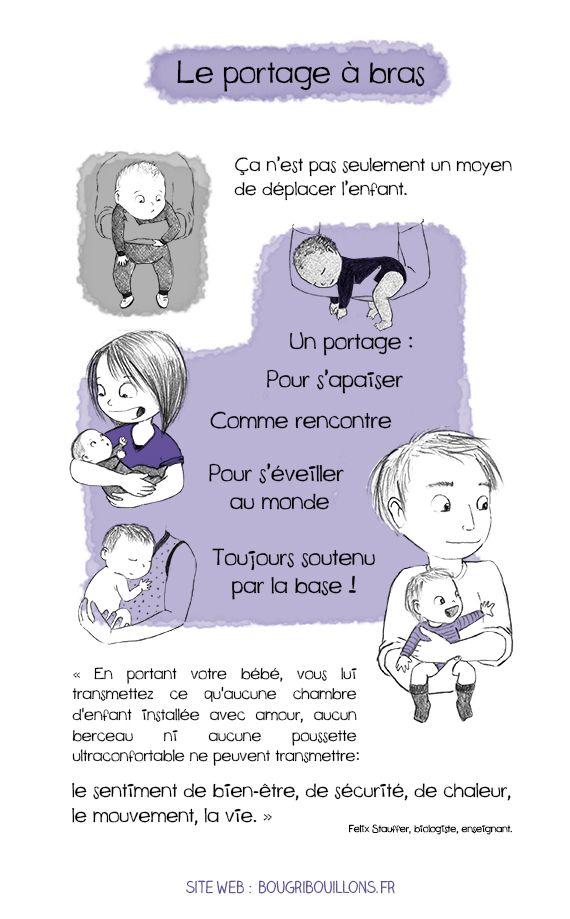 b2caae89cb86 Portage à bras - Bougribouillons Petite Enfance, Éducation Bienveillante,  Bienveillance, Fait, Besoin