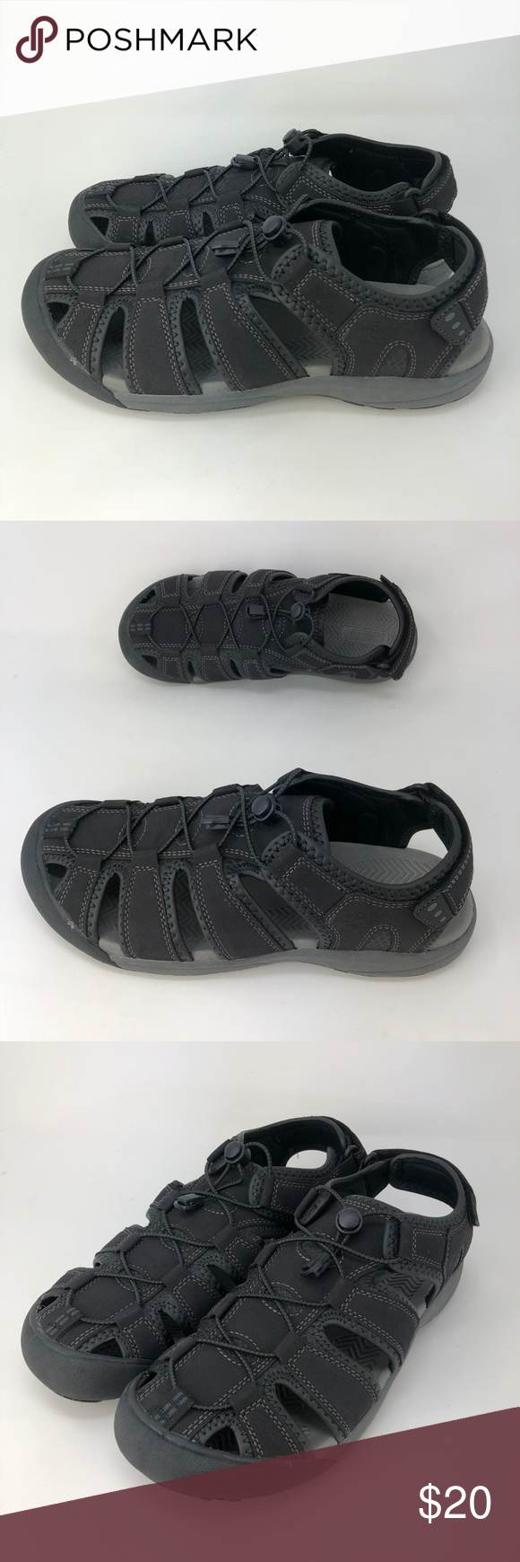 df0e1b1656ba Khombu Travis Men s Active Sandals Black Size 9-11 NEW Khombu Travis Men s  Active Adjustable