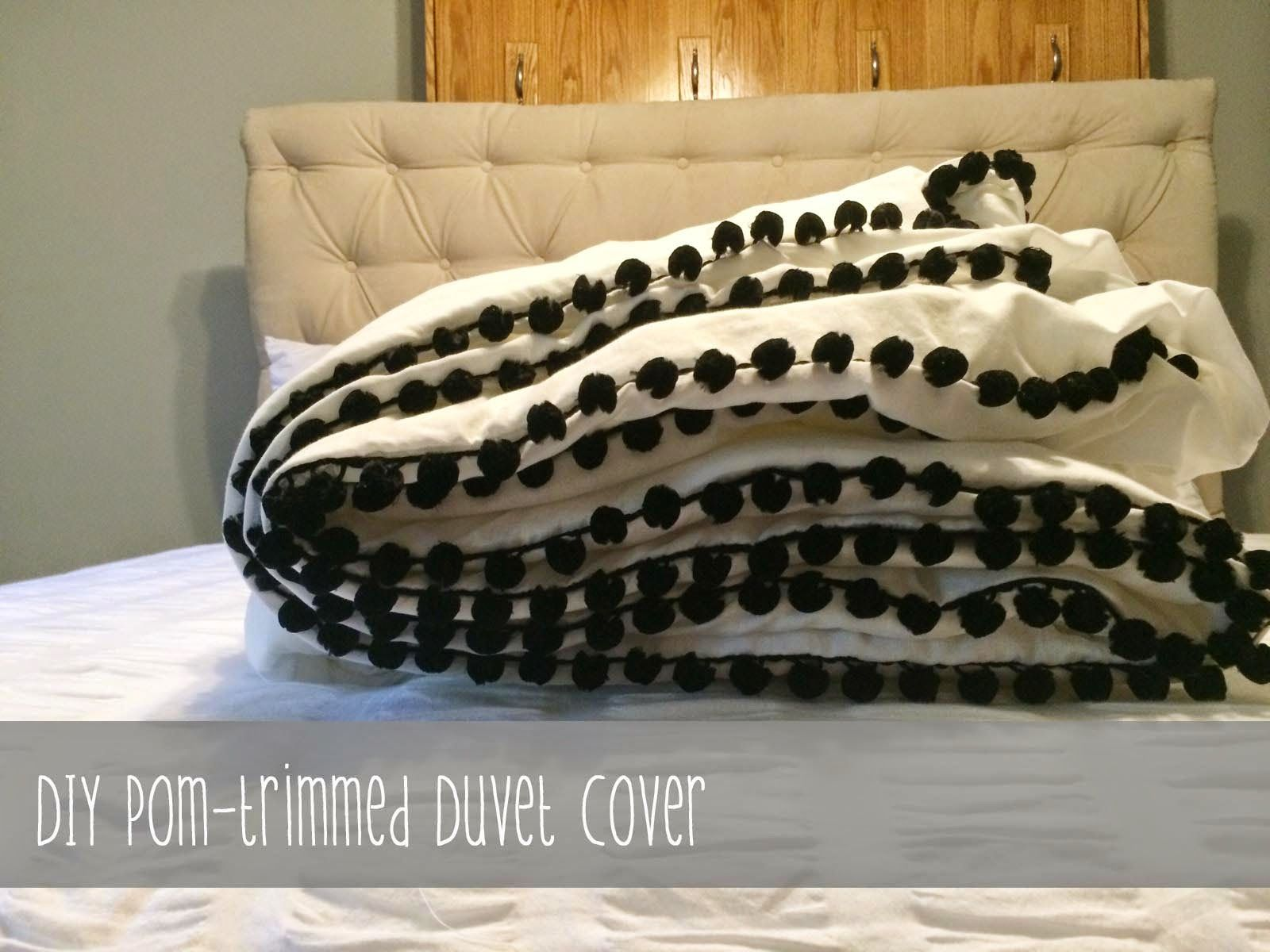From House to Home: DIY - Pom-trimmed Duvet Cover