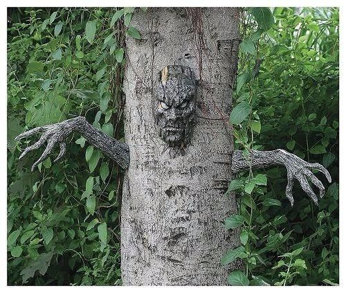 Scary Tree Man Outdoor Halloween Decoration Party Graveyard Prop