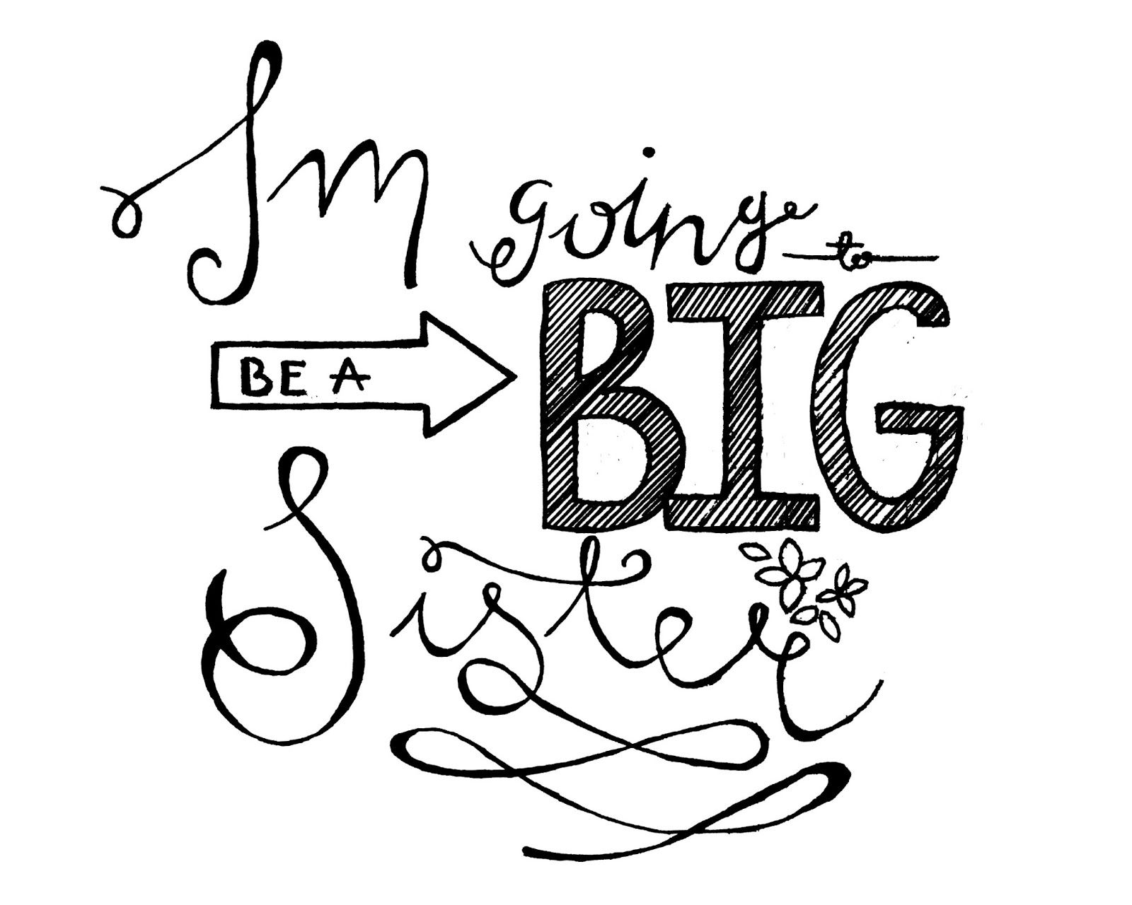 Free Printable Big Sister Sign With Images