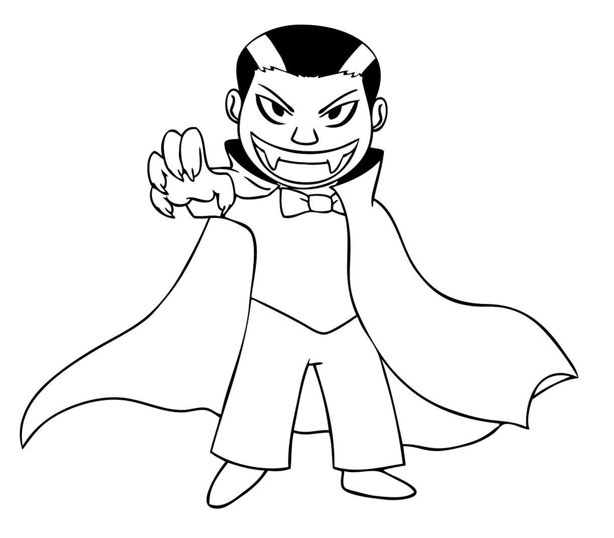 Free Printable Vampire Coloring Pages For Kids With With Images