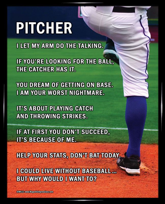 Funny Baseball Quotes Captivating Baseball Pitcher 8X10 Poster Print  Pinterest  Printing Baseball .