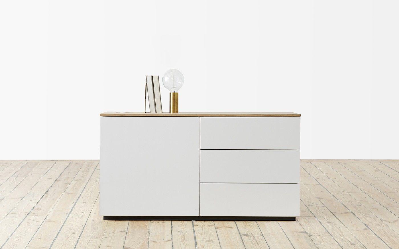 Sideboard 120 Cm ~ Arctic sideboard cm schubladen eine tür møbler