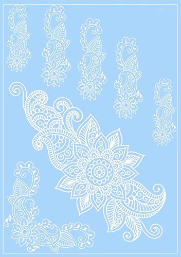 Henna Tattoo Kaufen Amazon: Henna Body Tattoos White Lace Floral Design Hand Arm Cover