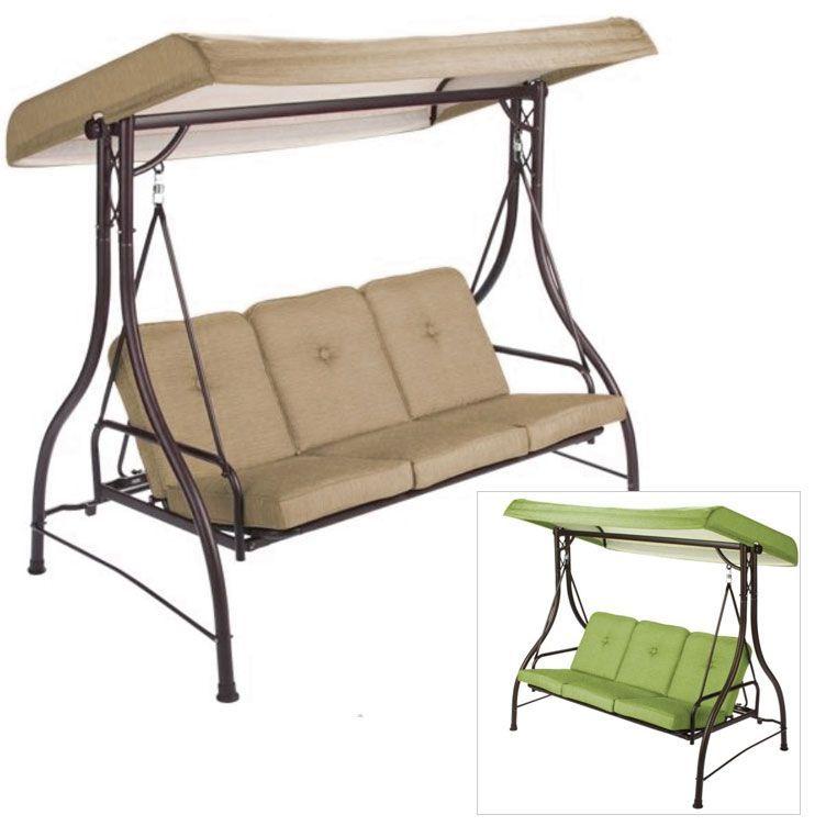 Mainstays Lawson Ridge 3 Person Swing Hammock Replacement Canopy Garden Winds Canopygardenmodern Canopy Swing Outdoor Hammock Swing Replacement Canopy