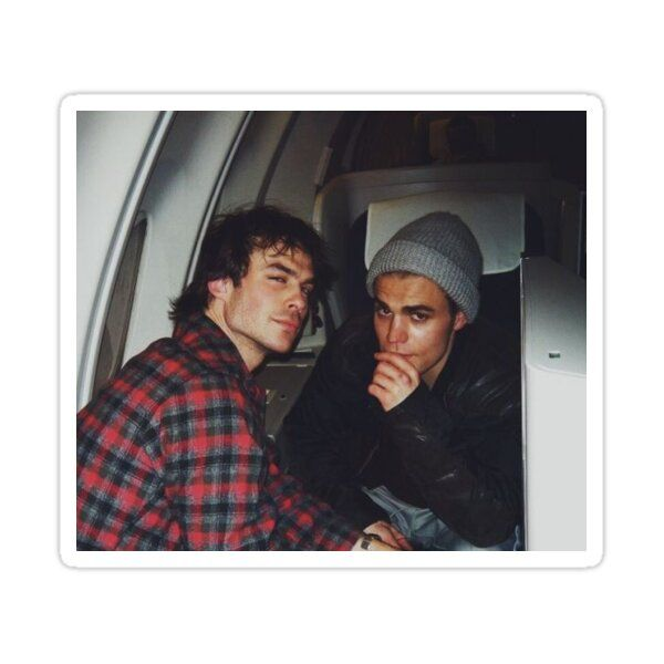 stefan and damon Sticker