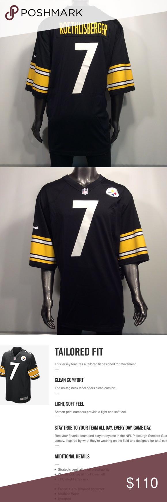 Pittsburgh Steelers Ben Roethlisberger 3xl Jersey Pittsburgh Steelers Nfl Nike Ben Roethlisberger 7 3xl Game Jersey Measurements Nike Shirts 3xl Shirts Jersey