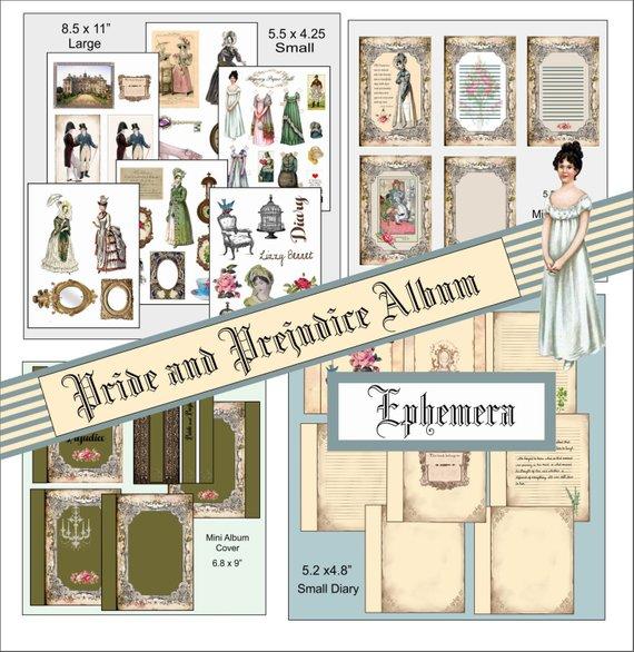 Pride And Prejudice Album Ephemera Small And Large Jane Austen
