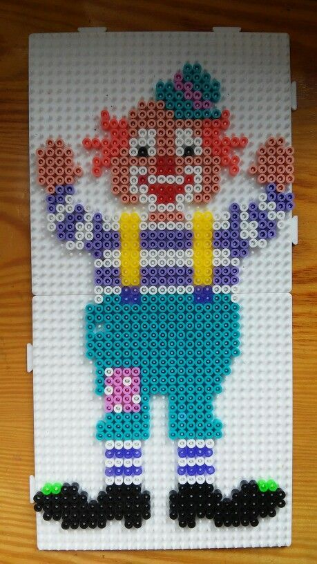 clown hama beads perler bead projects pinterest. Black Bedroom Furniture Sets. Home Design Ideas