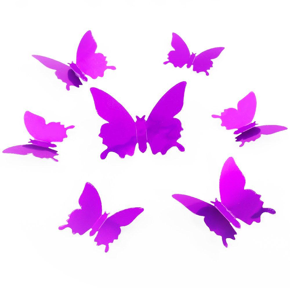 Luxury D Schmetterlinge er Set Wandtattoo Wandsticker Wanddeko lila
