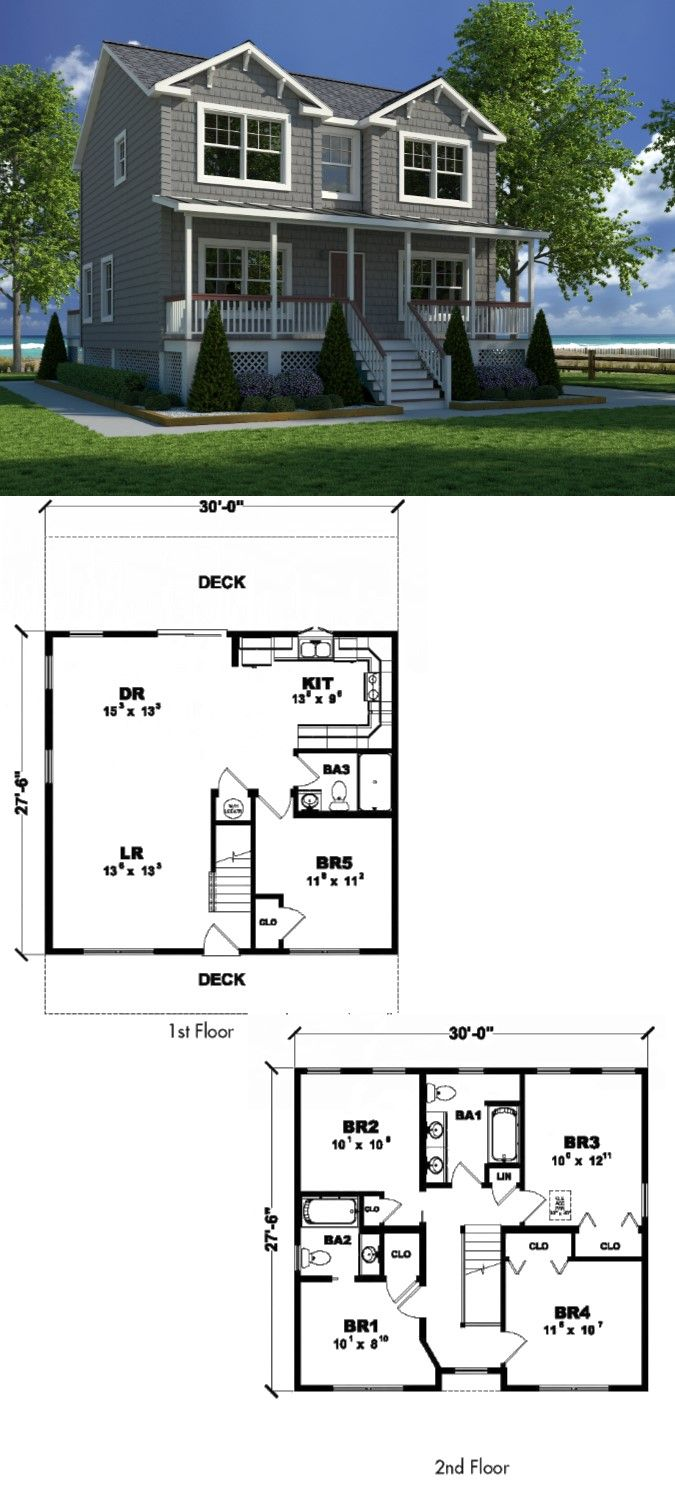 61 Best The Clic Colonial Two Story Home images | Two ... Br Story Home Floor Plans on