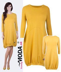 2cc5044e7340 Extravagantné žlté dámske šaty - trendymoda.sk