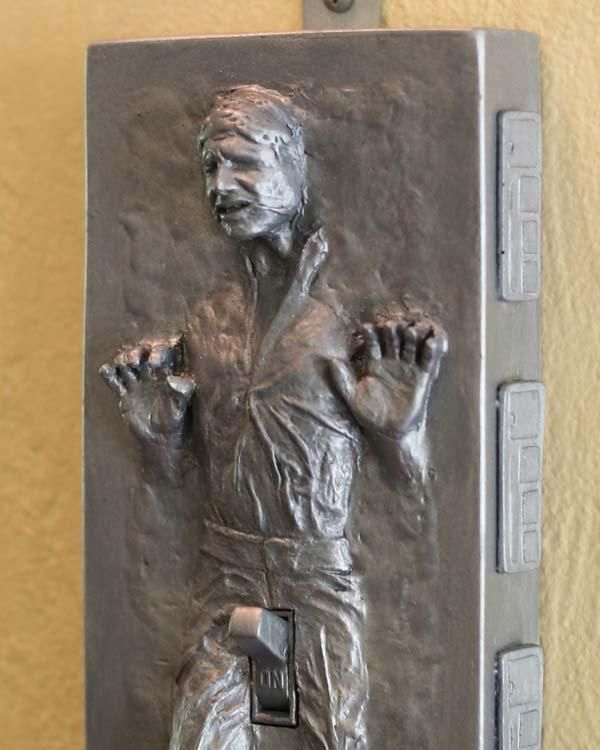 Han Solo in Carbonite Light Switch Cover Novelty