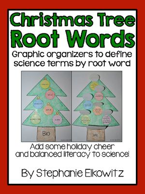 Christmas Tree Graphic Organizer from Stephanie Elkowitz on  TeachersNotebook.com - (22 pages) - A Christmas treat! - Christmas Tree Graphic Organizer From Stephanie Elkowitz On