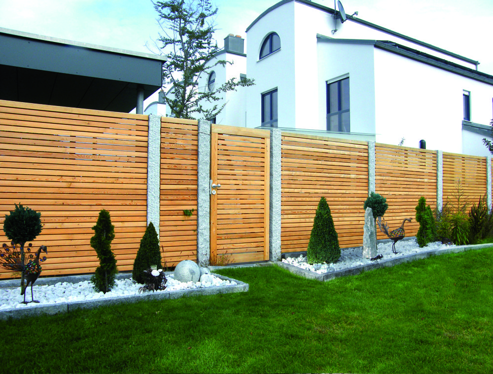 Photo of Wooden privacy fences | Holzland dog hammer larch glazed, individually made …